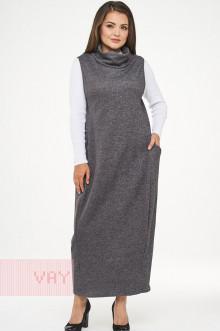 Сарафан женский 182-3458 Фемина (Темно-серый меланж)