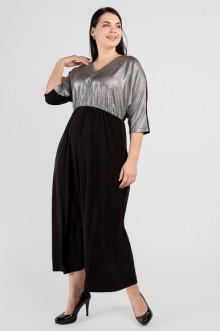 """Платье """"Артесса"""" PP03407BLK01 (Черный с серебром)"""