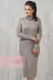 Платье женское 2236 Фемина (Светло-серый)